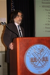 Professor Sarikas Discusses HIV/AIDS Knowledge, Prevention at Arnow Lecture