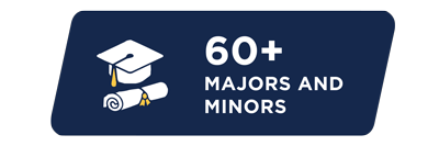 More than 60 majors and minors