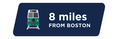 8 miles from Boston
